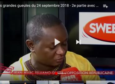 Les grandes gueules du 24 septembre 2018. 2e partie Ousmane Gaoual Diallo