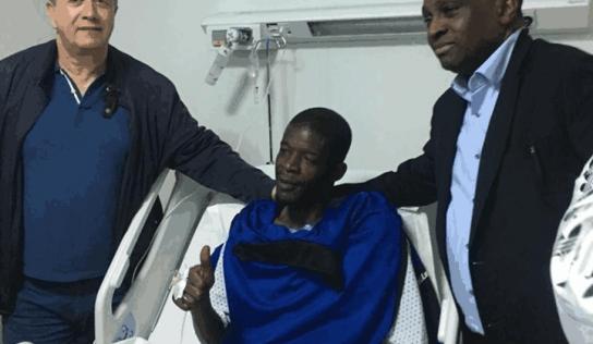 Le premiers mots de Khadim Ndiaye après son opération.