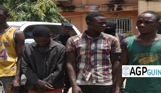 Sécurité : quatre (4) présumés auteurs d'assassinat arrêtés par la police à Coyah