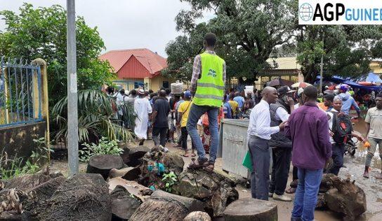Conakry-Faits divers : la jambe gauche d'un jeune coincée entre deux dalles