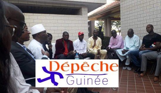 Cellou Dalein en visite chez Abdourahame Sano Sano