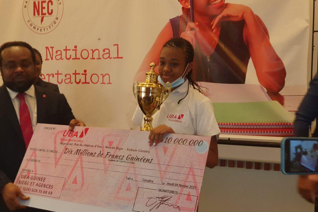 1ère édition du concours national de dissertation:Aissatou Bella Thiam remporte le 1er prix