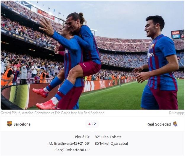 une première sans Lionel Messi particulièrement réussie